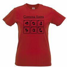Novelty English Womens TShirt Comma Sutra Grammar Joke Adult Pun Gift