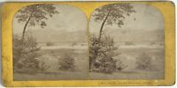 Lac Chambon Près Murols Foto Stereo Vintage Albumina c1880