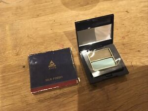 Avon Silk Finish Eyeshadow Duo OLIVE/TOTALLY TURQUOISE Discontinued Rare
