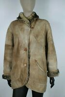 SHEARLING MONTONE SHEEPSKIN Cappotto Giubbotto Jacket Giacca Tg 48 Woman Donna C