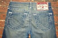 MENS TRUE RELIGION BUTTON FLY THICK STITCH DENIM JEANS SIZE 29 (MADE IN USA)
