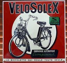 Grande Plaque Emaille Carre 30x30 Velosolex 2200 (Neuf) - Solex Déco Vintage
