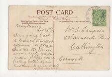 Mrs S Sampson Launceston Road Callington Cornwall 1914 533a