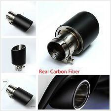 Real Carbon Fiber Coated Stainless 63mm-101mm Car Exhaust Muffler Tail Tip Pipe