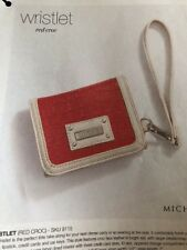 Authentic Miche~🐣NEW~Wristlet~Red Croc~Soft wallet~BRAND NEW~EASTER