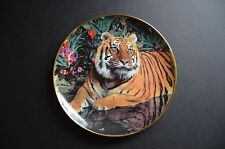 """Franklin Mint """"Tiger In Paradise"""" Collectors Plate"""