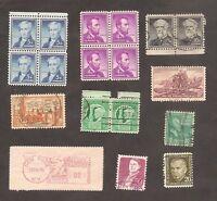 ++ US lot - Blocks, Pair, Definitives / USA United States Postal Stamps +