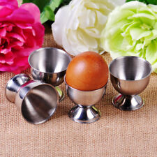 4pcs Soft Boiled Egg Cups Holder Tabletop Cup Kitchen Tool Set Stainless Steel