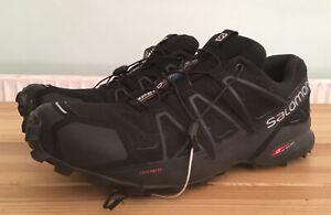 SALOMON SPEEDCROSS 4 TRAIL RUNNING SIZE-10.5 UK MENS (laces need Replacing!!)