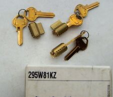 3   MASTER lock  PADLOCK cylinders # 295W81KZ   with 6 key BLANKS # 81