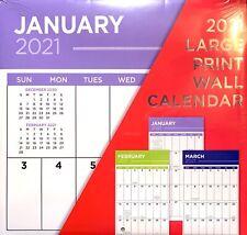 2021 Large Print Wall Calendar