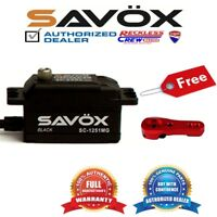 Savox SC-1251MG-BE High Speed Low Profile Servo+ Free Aluminium servo horn Red