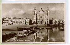 Vintage 1947 Postcard MALTA ~ St Joseph's Church Misida ~ SELF GOVERNMENT STAMP