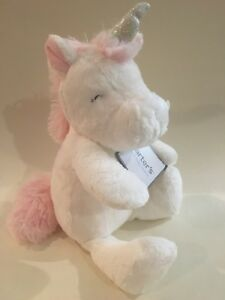 NEW!  Carters Plush White Pink Silver Unicorn Horse Baby Toy Lovey Stuffed Soft