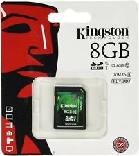 8GB Kingston SD SDHC Class 10 Memory Card for Camera GPS Tablet