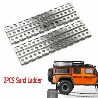 2pcs Metall Sand Ladder für 1/10 RC Crawler TRX4 Axial SCX10 D90 CC01 # GAX0135A