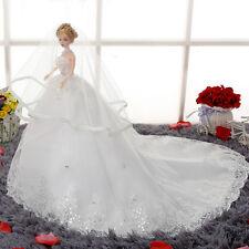 Barbie Doll Bride Wedding Dress Girl Doll Toy Bridal Paillette Wedding Doll 46cm