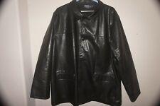 POLO RALPH LAUREN Leather Jacket Coat Button Men 2XL Black (17)