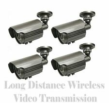 LONG RANGE 1700FT WIRELESS VIDEO NIGHT VISION SECURITY CAMERAS - CCTV SYSTEM DVR