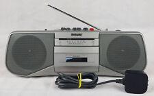 VINTAGE SONY CFS-B21L Portable Radio Cassette Player boom box stéréo,, argent.