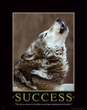 Gray Wolf Motivational Poster Art Timber Wolves Wildlife Lone Wolf WWF MVP137