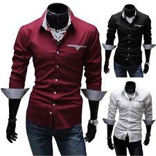 BOLF 4711A Herren Hemd 3 FARBEN S-XXL Slim Fit Neu T-Shirt Polo Style 2B2 Hemd