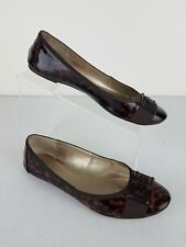 Isola Women's Tortoise Patent Leather Flats Size: 9M Shoes
