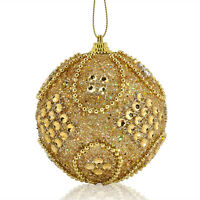 Hot Christmas Rhinestone Glitter Baubles Balls Xmas Tree Ornament Decoration New