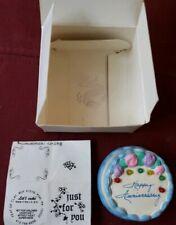"2007 Mini Ceramic Cake. Happy Anniv. Musical! Plays""Let me call you sweetheart."""