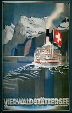 Vierwaldstättersee Schweiz Blechschild Schild Blech Metall Tin Sign 20 x 30 cm