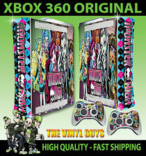 XBOX 360 ORIGINAL MONSTER HIGH VAMPIRE WOLF ZOMBIE STICKER SKIN & 2 PAD SKINS