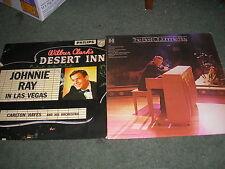 LOTTO di 2 LP 's Johnnie Ray a Las Vegas UK PHILIPS BBL. 7254+ meglio di Harmony NM