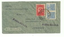 WWII Brazil to Germany airmail cover, with Nazi censorship label