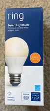 Ring A19 800 Lumens Smart Led Light Bulb New Open Box