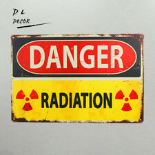 DL-DANGER RADIATION Retro Decor Metal Tin Sign Garage Home Bar wall decoration