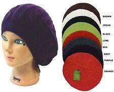 100% Acrylic Women Lady Beanie Crochet Plaid Beret Knit Baggy Warm Hat Cap