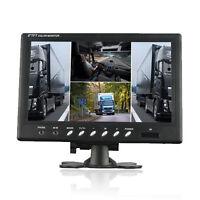 HD 9 Inch TFT LCD 4 Split Quad Video Display 4 Video Input Car Rear View Monitor
