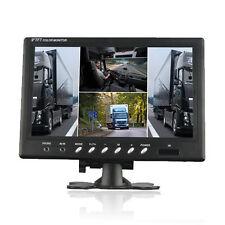 """9"""" HD 4 Split Quad Video Display 4 Video Input TFT LCD Car Rear View Monitor -US"""