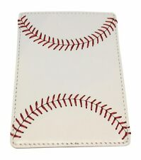 BallPark Leather White Leather Baseball Seam Money Clip Wallet