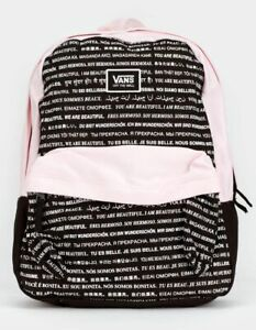 Brand New Womens Vans We Are Beautiful Backpack Black/ Pink