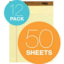 Tops Legal Rule Writing Pads 8 12 X 11 34 Canary Yellow Paper Pack Of 12