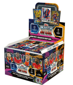 2020 2021 Topps Match Attax UEFA Football Cards - 50 Packs Box Soccer NEW