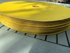 "PACK OF 5 SANDING DISCS PAD 350 MM X 40MM BORE 14"" NORTON ADAOX G121 P 60 NEW"