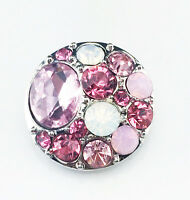 rhinestone handmade Hot Snaps Chunk Charm Button for leather Bracelets