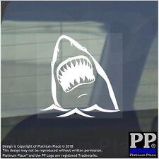 1 x Shark-Internal Sticker-Vehicle,Animal,Ocean,Jaws,Teeth,White,Swim,Sea,Water
