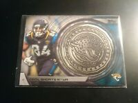 2014 Topps Kickoff Coins #NFLKCCS Cecil Shorts III Coin Medallion Relic Jaguars