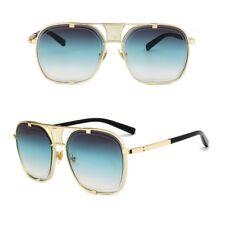 Mens Square Aviator Gold Metal Bar Large Designer Shades Fashion Sunglasses