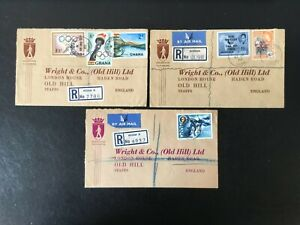 GHANA 1958/60 JASIKAN & ACCRA REGISTERED COVERS (3) TO WRIGHT & Co. STAFFS