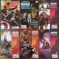 Lot Of 6 Siege 2 & 3 Embedded 2 & 3 Origins 1 Captain America 1 MARVEL COMICS NM
