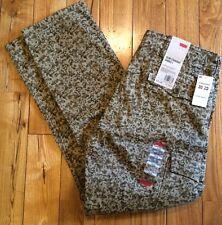 NWT Mens LEVIS Tan Brown Camo Slim Straight Cargo Pants Size W33 L30 $68